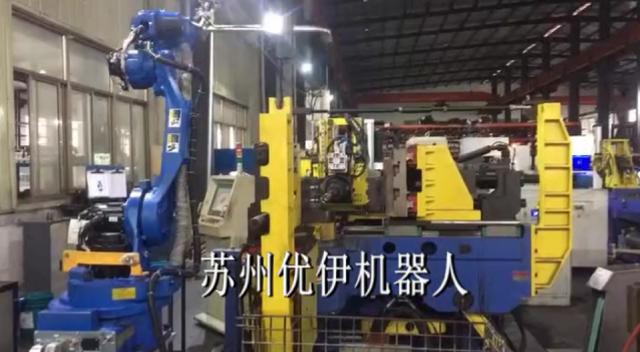 台湾颖霖弯管机&安川机器人组线自动化生产