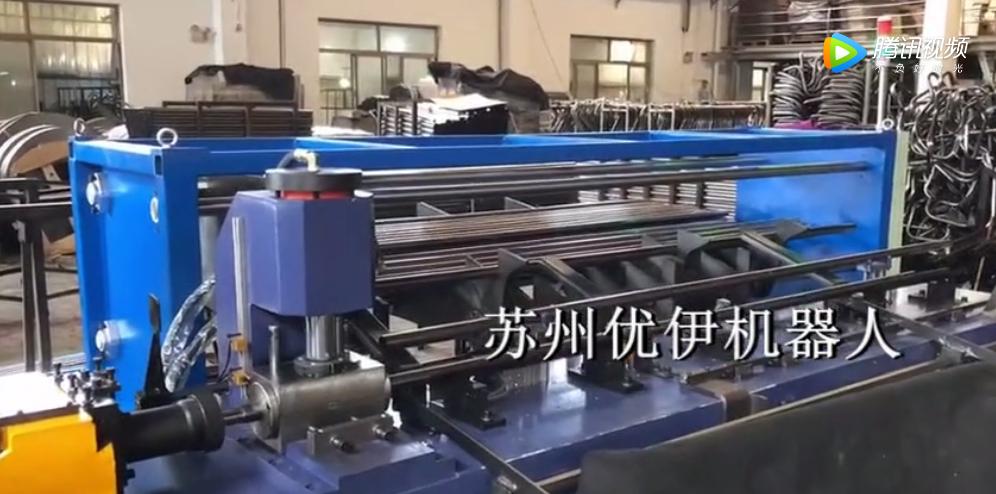 张家港缩管机配置自动上下料工作站实施