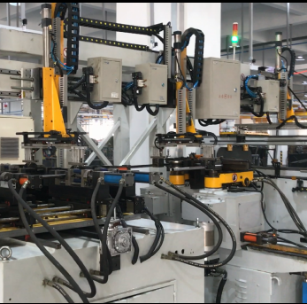 Video of U-tube automatic bending and punching production line