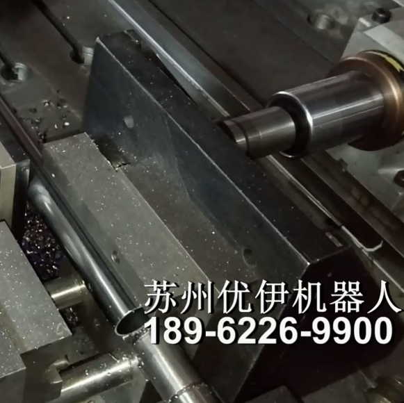 Video of straight pipe automatic punching and drilling production workstation