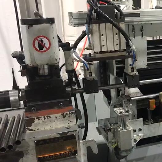 缩管机自动生产工作站视频