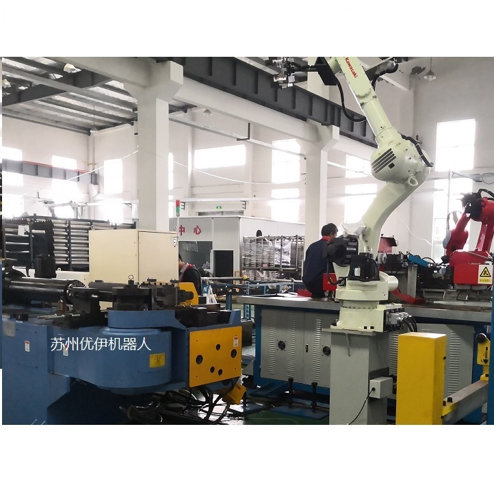 Video of HJM Pipe Bender w Kawasaki Robot Loading and Unloading