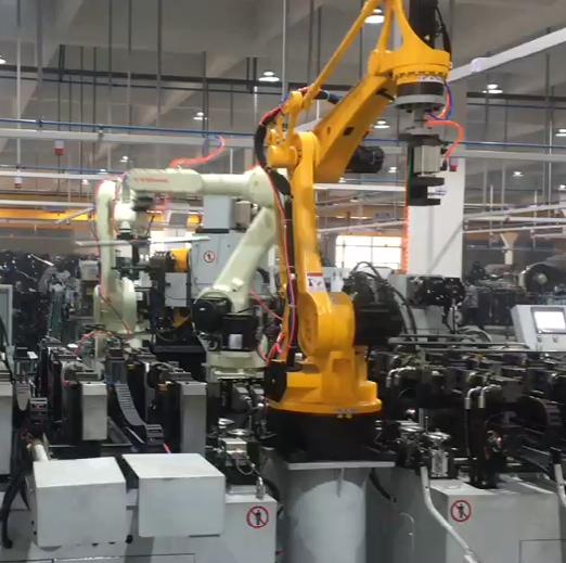 扶手管无人化机器人自动生产线(三管并做)