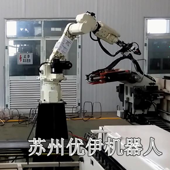 全自动切管机+弯管机+机器人上下料自动生产线
