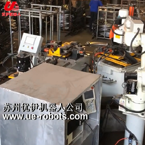 Video of Auto Production Line of Trampoline Arc Tube w Robot