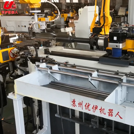 Production video of Zhangjiagang pipe bender with domestic machine head pillow b