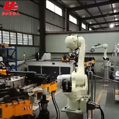 Kawasaki robot auto headrest bar automatic production line