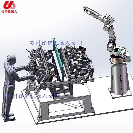 Three axis welding positioner of welding robot