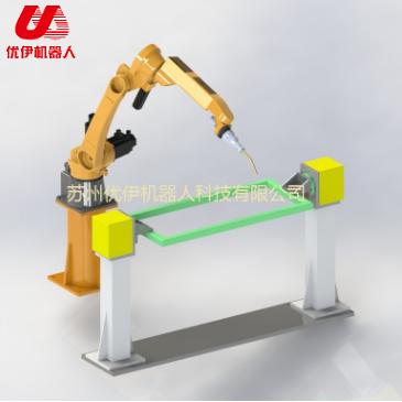 Double seat positioner of welding robot