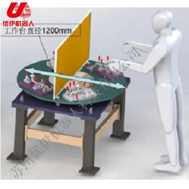 焊接机器人水平回转台变位机(三轴)