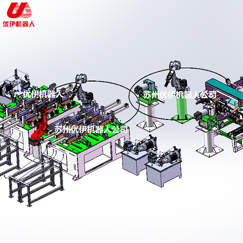 Automatic production line of beach chair arm tube