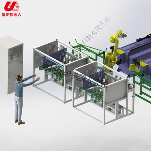 川崎机器人汽车头枕杆机器人生产线
