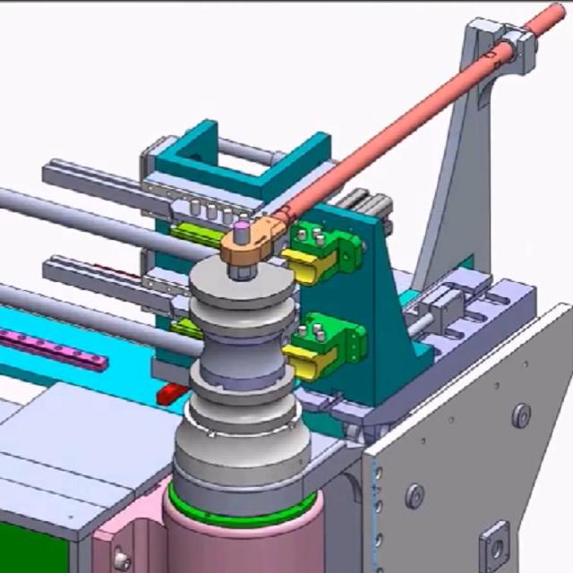 弯管机3D设计动漫视频