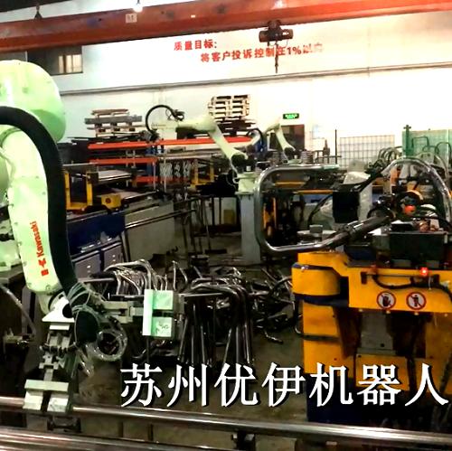川崎机器人与张家港标准弯管机组自动线视频