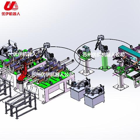 弯管机机器人扶手管自动生产线