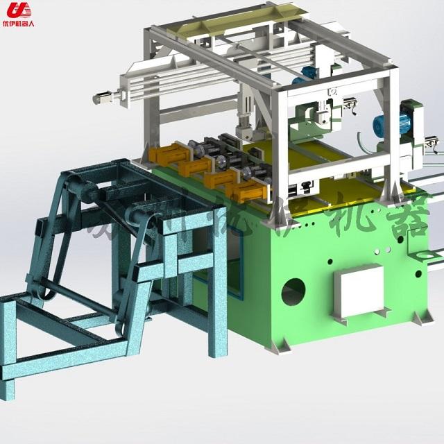 矩形管自动冲孔钻孔生产线